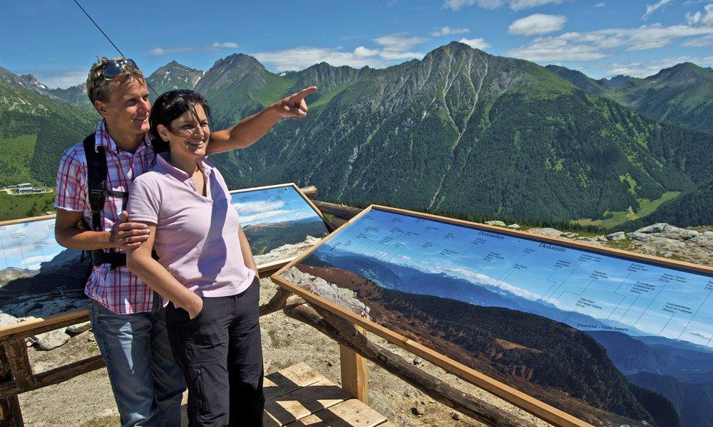 Genießen Sie den Ausblick auf die Almenregion Gitschberg Jochtal