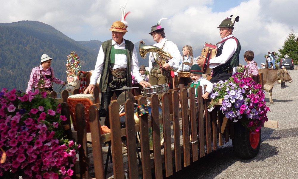 Geselligkeit beim Bauernhofurlaub in Südtirol
