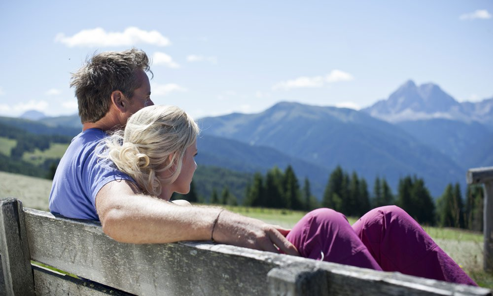 Bergfrühling mit Aussicht auf die Dolomiten