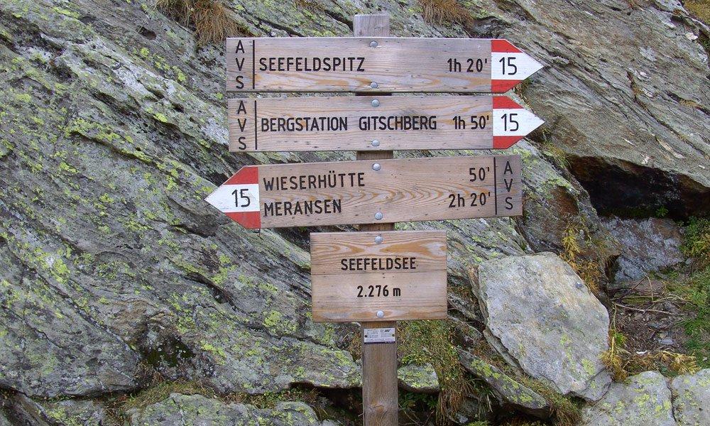 Gitsch - von Meransen über die Moserhütte und Kleingitsch